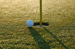Projectile de golf proche Photo libre de droits