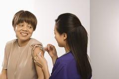 Projectile de obtention patient. Photo stock
