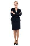 Projectile intégral de gestionnaire féminin confiant photographie stock