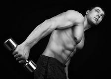 Projectile monochrome d'athlète photos libres de droits