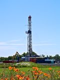 Projectile vertical de foret de gaz naturel Image stock