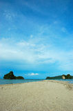 Projectile vertical de plage, plage d'ao Nang, Krabi, Thaïlande Photo libre de droits
