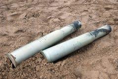 Projectiles d'artillerie Photos libres de droits