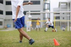 Projectiles du football Photo libre de droits