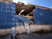Projectiles israéliens d'artillerie en Palestine Images stock