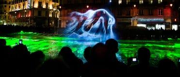 Projection de brouillard - DES Lumieres 2010 de fête Images libres de droits