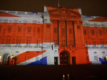 Projection de Buckingham Palace des images Photos libres de droits