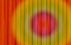 Projection de cible de cercles colorés sur un fond des conseils verticaux Image libre de droits