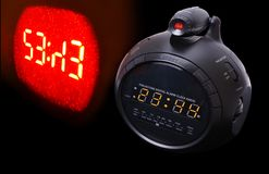 Projection digital clock Royalty Free Stock Photography