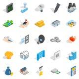 Projection icons set, isometric style Royalty Free Stock Photo