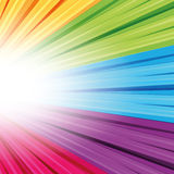 Projection, réflexion de lumière dans la couleur différente Photos stock