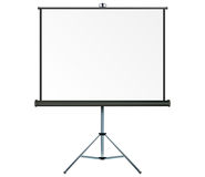 Projection screen. Screen with copy-space, place your own text or images on the projection screen Royalty Free Stock Photos