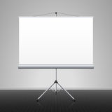 Projection screen. Blank projection screen vector illustration Stock Photos