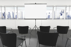 Projection Screen and Chairs Stock Photos