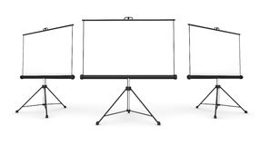 Projection screen concept 3d illustration. Projection screen 3d illustration isolated on white background Stock Photography