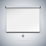 Projection Screen to Showcase Your Projects Stock Images