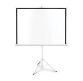 Projection screen on tripod Royalty Free Stock Image