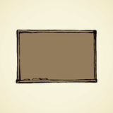 Projection screen. Vector. Stock Photography
