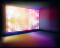 Projection screen. Vector illustration. Stock Photography