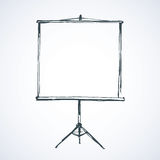 Projection screen. Vector. Royalty Free Stock Photography