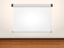 Projection screen on wall Stock Photo