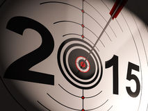 2015 Projection Target Shows Successful Future. 2015 Projection Target Showing Successful Future Royalty Free Stock Photo