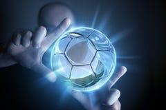Projection vitreuse de boule Images libres de droits