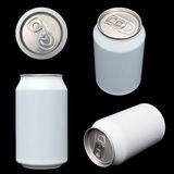 Projections of a blank beverage can Stock Photo