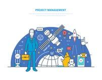 Projectleiding Planning, organisatie van werkuren, regelgeving, tijdbeheer royalty-vrije illustratie