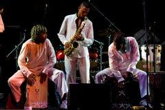 Projecto Axe au festival de jazz de l'Ombrie Image libre de droits