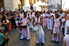 Projecto Axe' in parade at Umbria Jazz Royalty Free Stock Photo