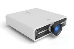Projector. Modern projector on white background Royalty Free Stock Photo
