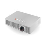 Projector. Light plastic projector on a white background Royalty Free Stock Photo