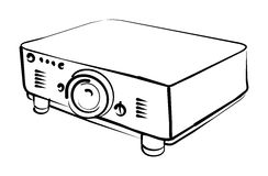 Projector vector illustratie