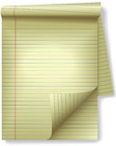Projector amarelo da onda da página do papel do canto da almofada legal Fotos de Stock