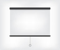 Projector blank screen. Projector blank black screen illustration Stock Photos