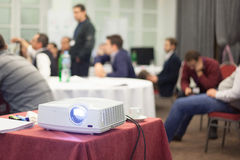 Projector at business meeting Royalty Free Stock Photo