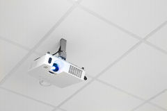 Projector on the ceiling Royalty Free Stock Photo