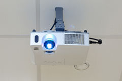 Projector on the ceiling. Working projector on the ceiling Stock Photo