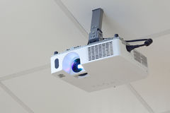 Projector on the ceiling Stock Photo