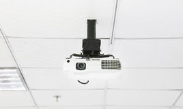 Projector. On the ceiling in the office royalty free stock image