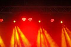 Projector do estágio com raias Foto de Stock Royalty Free