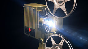 Projector film shows stock footage