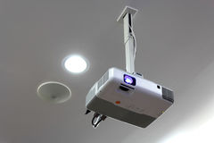 Projector. Hang on ceiling  for meeting room Stock Images