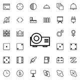 Projector icon. Detailed set of minimalistic line icons. Premium graphic design. One of the collection icons for websites, web des. Ign, mobile app on colored Stock Photography