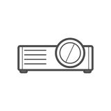 Projector icon Royalty Free Stock Photography