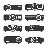 Projector Icon Set on White Background. Vector. Illustration Stock Photo