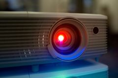 Projector, training and workshop royalty free stock photography