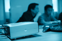 Projector in meeting room Stock Image