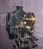 Projector of 35 mm films. Paris,France- May 06,2017: Projector of 35 mm films `Theatrograph`; England; 1896,in the Museum of Cinema stock photography